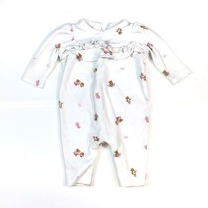 BY138 Babies Ralph Lauren Teddy Bear Onesie 3M